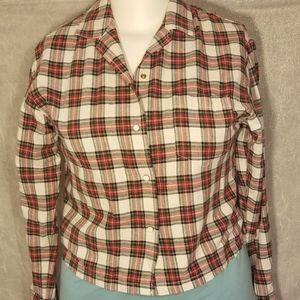Father's Daughter Kennedy Plaid Button Down Shirt